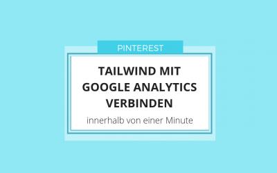 Tailwind mit Google Analytics verbinden